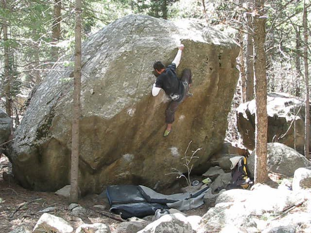 Rock Climbing Photo: Topping out.
