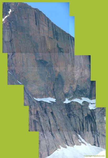 Rock Climbing Photo: A Cool peice together of The Diamond on Longs Peak...