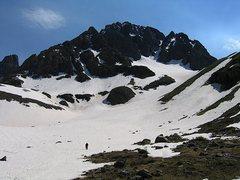 Rock Climbing Photo: N. side of Mt. Sneffels.  June, 08.