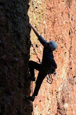 Climbing at El Rito, NM