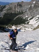 Rock Climbing Photo: Skiing slope on N. side of Mt. Sneffels (above Bla...