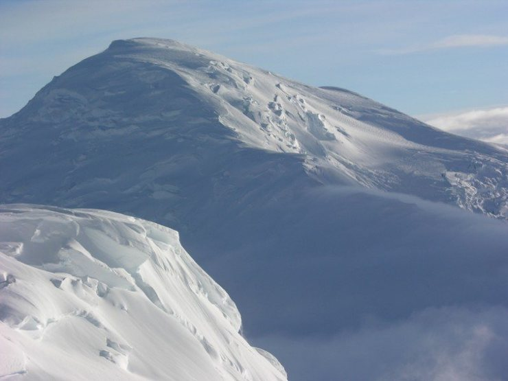 Kahiltna Dome viewed from the 11,200ft camp on Denali's West Buttress