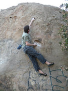 Rock Climbing Photo: Sam sticks the first move on Ummagumma.