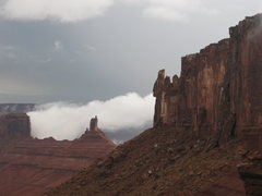 Rock Climbing Photo: After a serious thunderstorm rolled through...ligh...