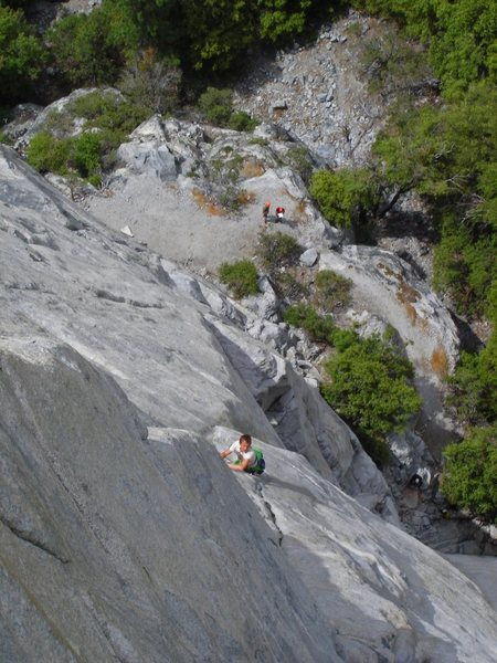 Leo Houlding nearing the top of pitch 3