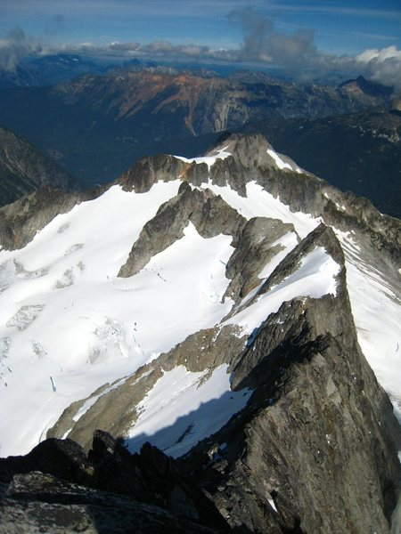 Looking down the North Ridge from the summit.