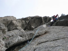 Rock Climbing Photo: A quick mover over the roof and hello beautiful ha...