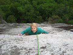 Rock Climbing Photo: Renee at the Arrow crux.