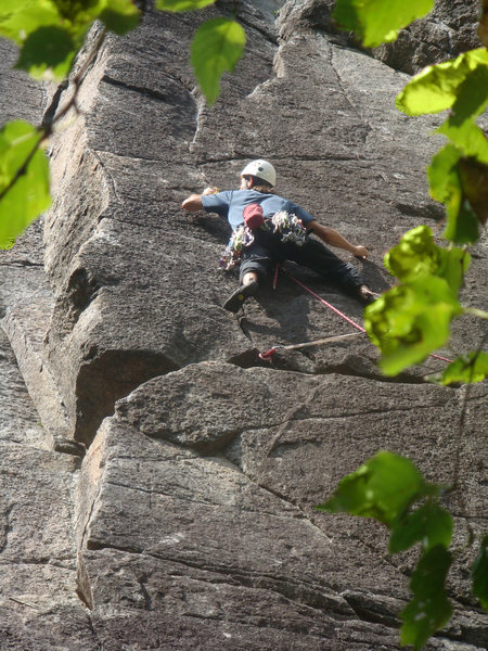 Climb: Flying & Drinking and Drinking & Driving<br> Location: beer Walls, Keene Valley, NY<br> Climber: Chris Vultaggio