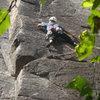 Climb: Flying & Drinking and Drinking & Driving<br> Location: beer Walls, Keene Valley, NY<br> Climber: Chris Vultaggio