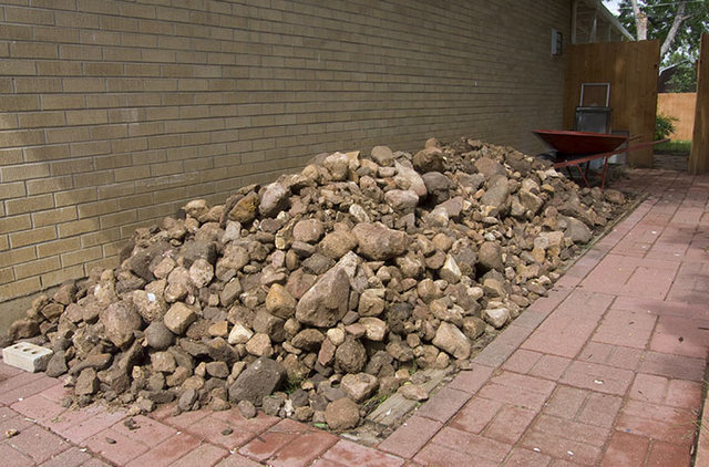 Pile-o-rock that was under the garden.