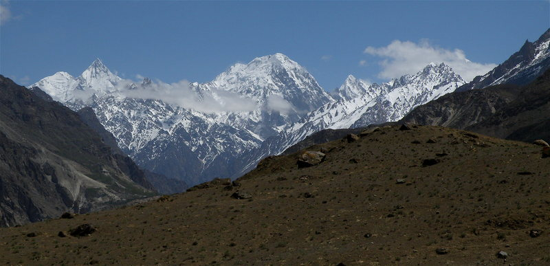 Rock Climbing Photo: Mohmil Sar (center) as seen from the vicinity of G...