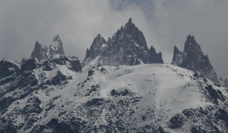 Unnamed Unclimbed rock towers in the Karakoram Range, northern Pakistan
