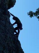 Rock Climbing Photo: Matt hanging draws on Squirrel Deck.