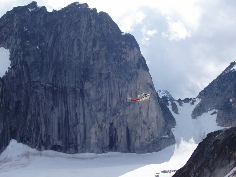 Rock Climbing Photo: Chopper, recovering, a climber, killed in a accide...