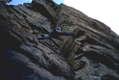 Rock Climbing Photo: 5.10a trad route, 2 pitchs, just off the trail, by...