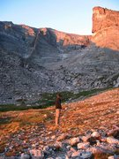 Rock Climbing Photo: Flying Buttress of Mt. Meeker (upper left)  in mor...