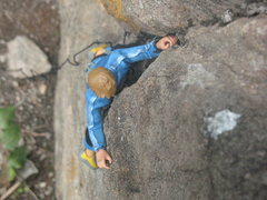 Rock Climbing Photo: The first ascent of Chihuahua, 5.13  Photo by Tobi...