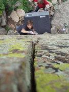 Rock Climbing Photo: Crack kills.