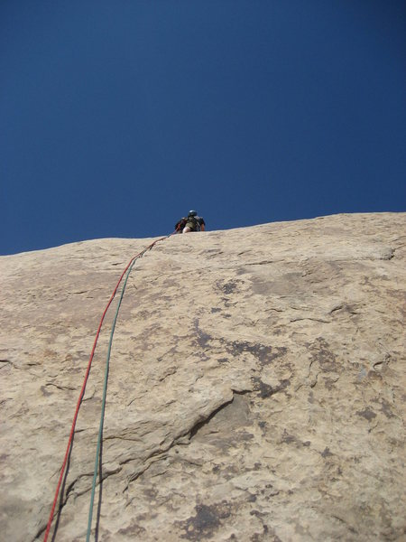Rock Climbing Photo: Steve on the pitch four.