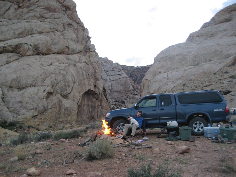 Camp at Three Fingers Canyon