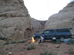 Rock Climbing Photo: Camp at Three Fingers Canyon