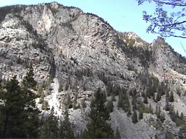 Cone Mountain escarpment, with Ra, Halidome and more, Empire, CO.