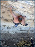 Rock Climbing Photo: Toph sending the easiest route at Beer Wall.