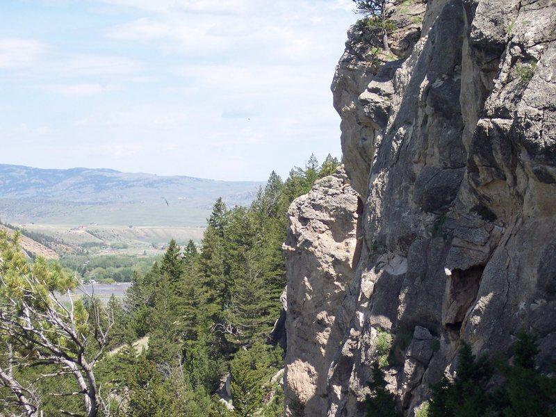 left side of main crag