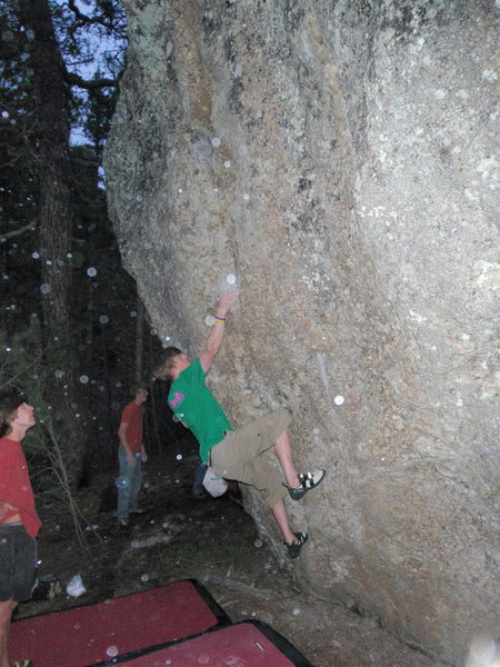 Rock Climbing Photo: Working a problem up by the Chopping Block in Mt. ...