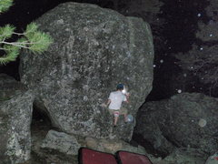 Rock Climbing Photo: Pebble wrestling on the Red Dot boulder