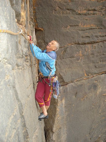 Rock Climbing Photo: Norm Booth on Scarab