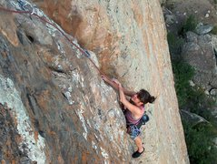 Rock Climbing Photo: Closer to the top.