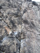 Rock Climbing Photo: Fox Fork to the left of the black streak