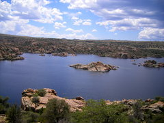 Rock Climbing Photo: View of the lake from top of Timezone wall, West s...