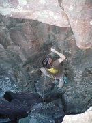 Rock Climbing Photo: John K. leading Breakfast of Champions Direct  Pho...