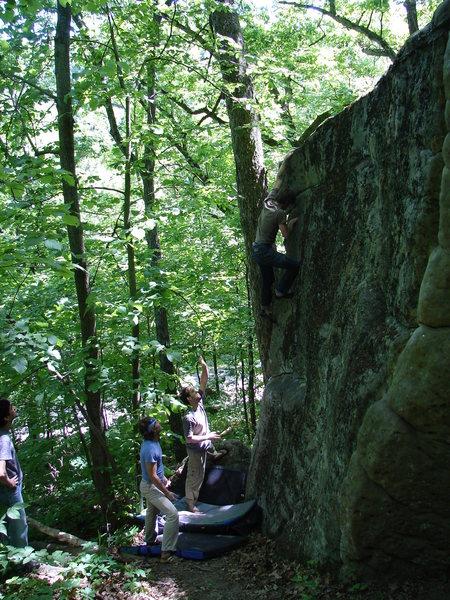 Rock Climbing Photo: Dobbe on the FA
