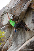 Rock Climbing Photo: Pulling the roof of Rodan