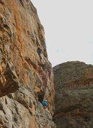Rock Climbing Photo: Scorpion Crack on Bluff Major