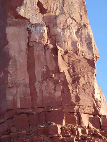 Rock Climbing Photo: Variation finish to p1.