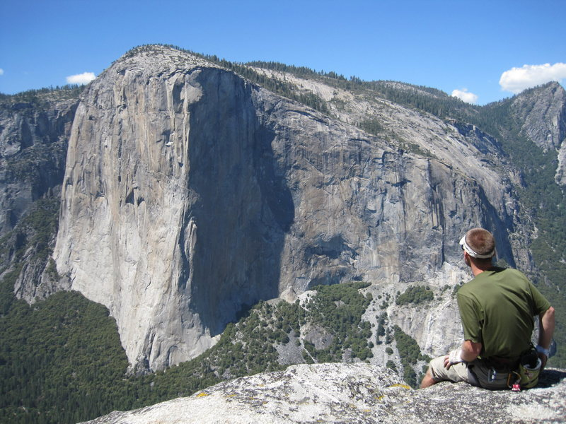 Rock Climbing Photo: View of El Cap taken from the summit of Lower Cath...