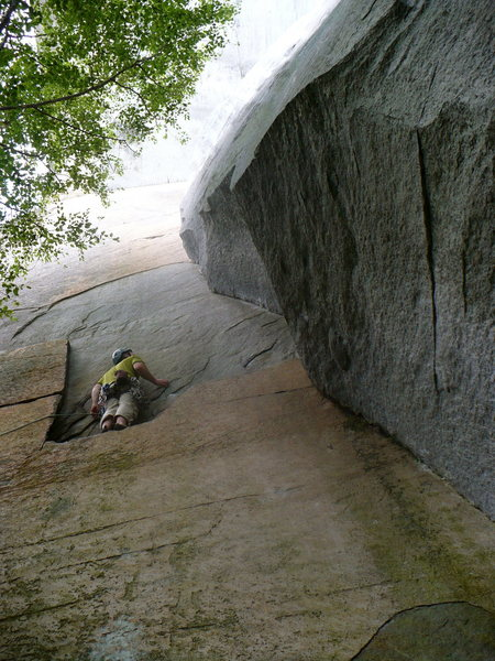 Rock Climbing Photo: Invisible Airwaves, Looking Glass, NC