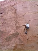 Rock Climbing Photo: Bill Weiss low on the route.