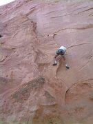 Rock Climbing Photo: Bill Weiss at the crux.