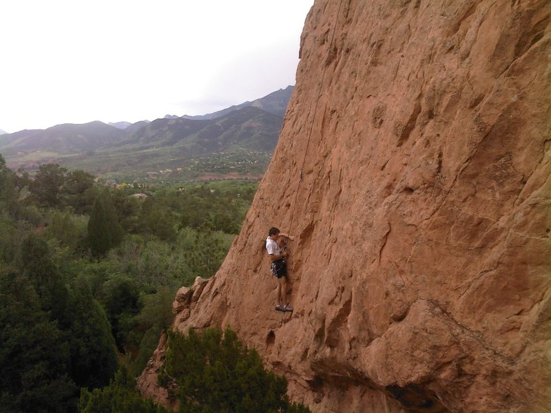 Rock Climbing Photo: This is the lower part of the route.  It actually ...