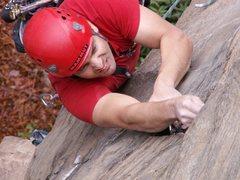 Rock Climbing Photo: Sean Barb making it happen.