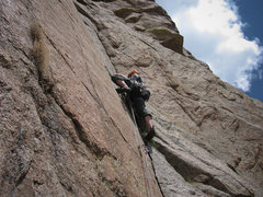 Rock Climbing Photo: Chuck after the traverse climbers right from p2 be...