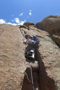 Rock Climbing Photo: The start of pitch two. Beautiful finger/hand crac...