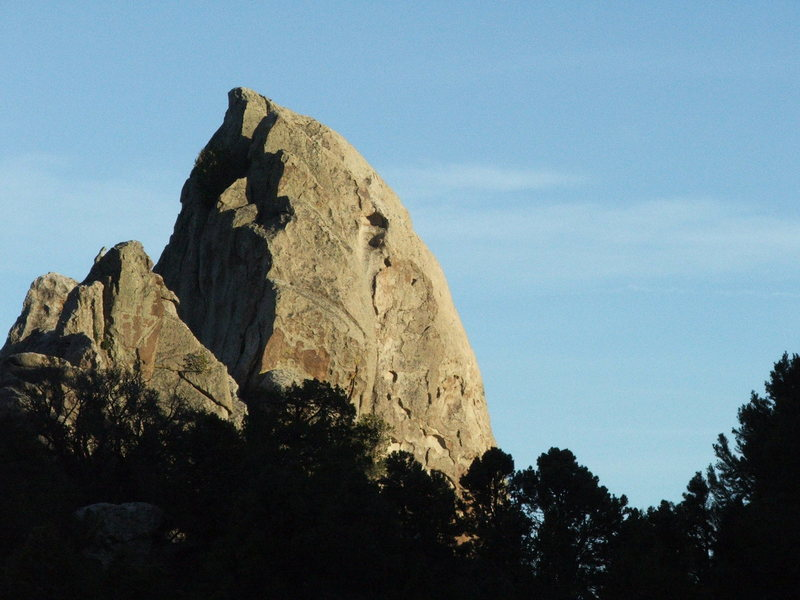 Rock Climbing Photo: Scream Cheese, follows just left of the right skyl...