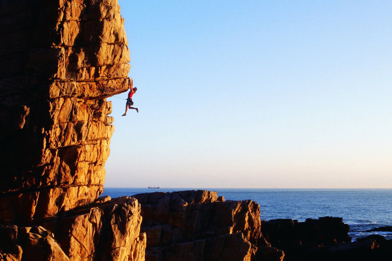 Rock Climbing Photo: One Way Ticket, 5.11a, on the Clocktower, Long Don...